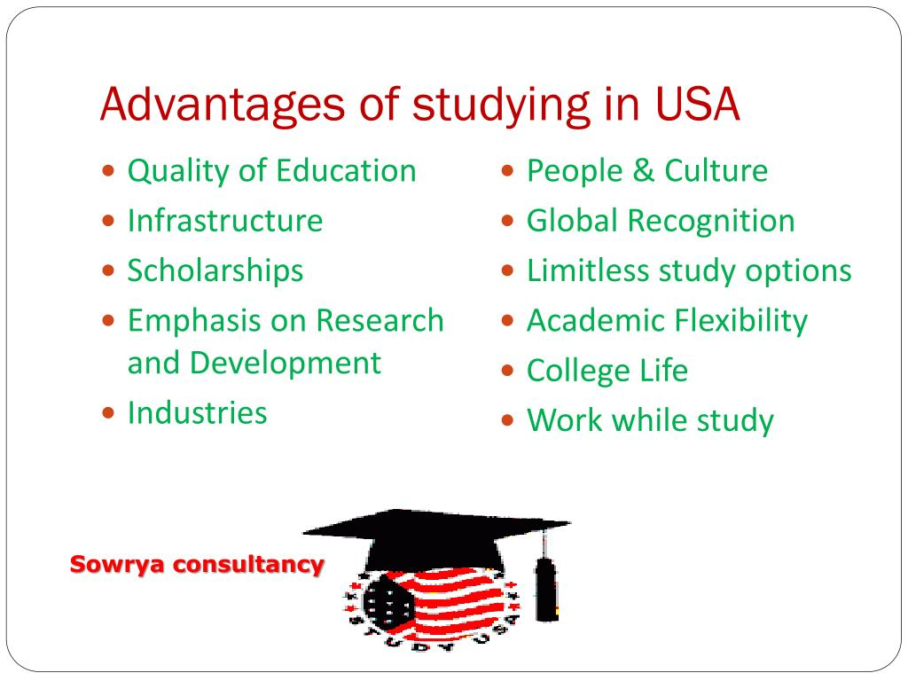 Advantages of studying in USA