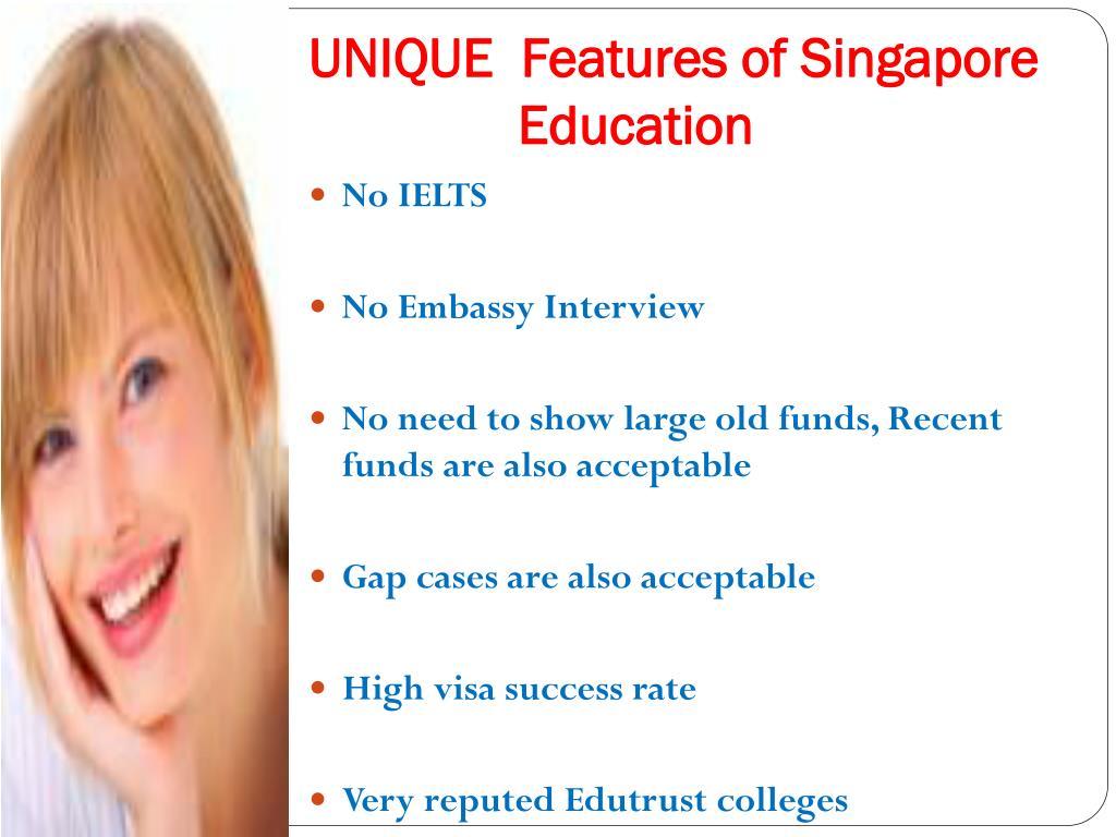 UNIQUE  Features of Singapore