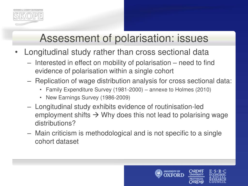 Assessment of polarisation: issues