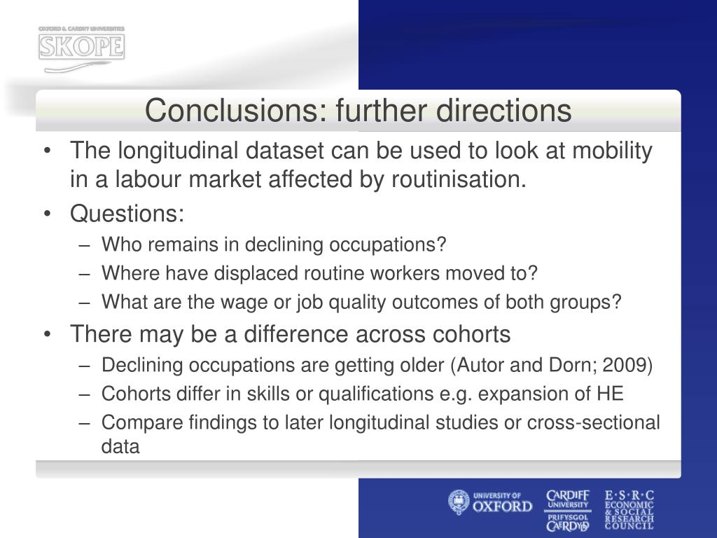 Conclusions: further directions