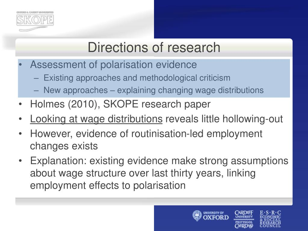 Directions of research