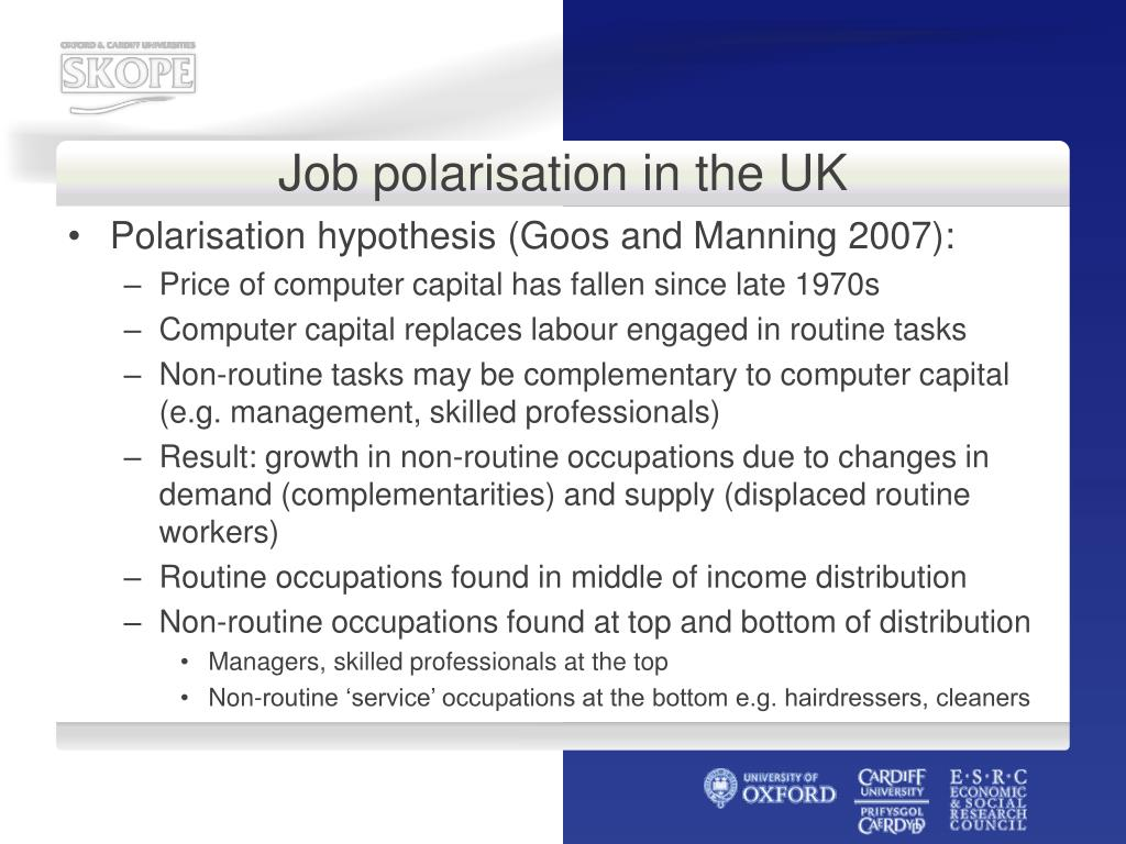 Job polarisation in the UK
