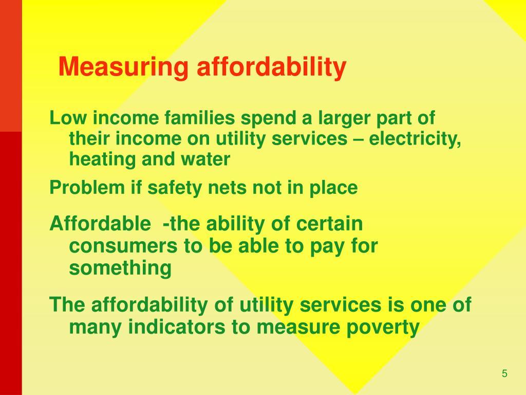 Measuring affordability