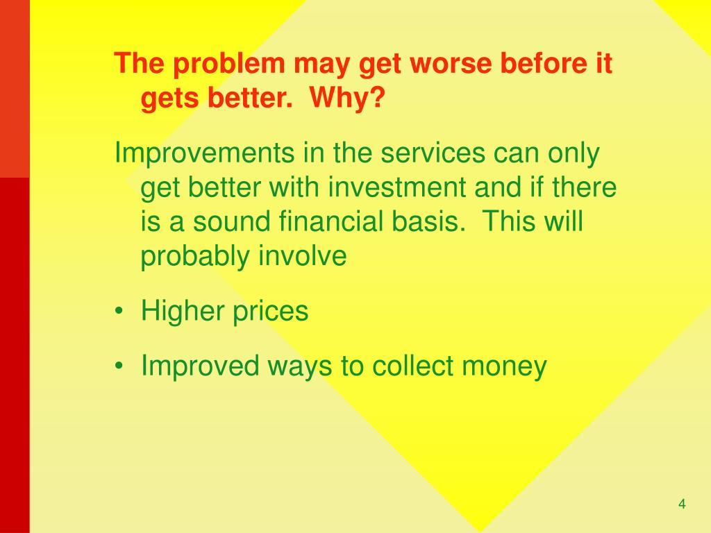 The problem may get worse before it gets better.  Why?