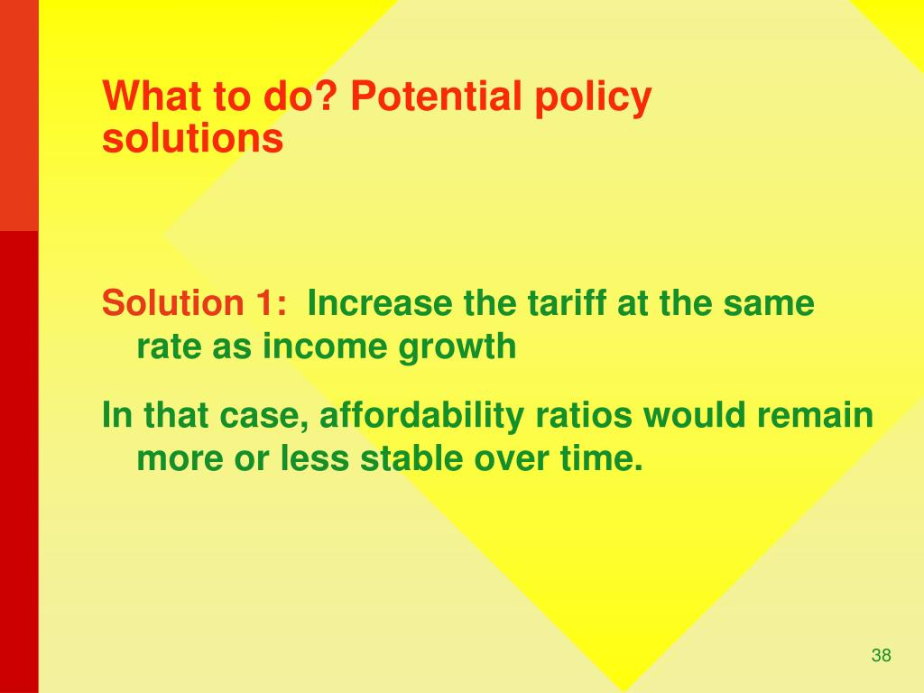 What to do? Potential policy solutions