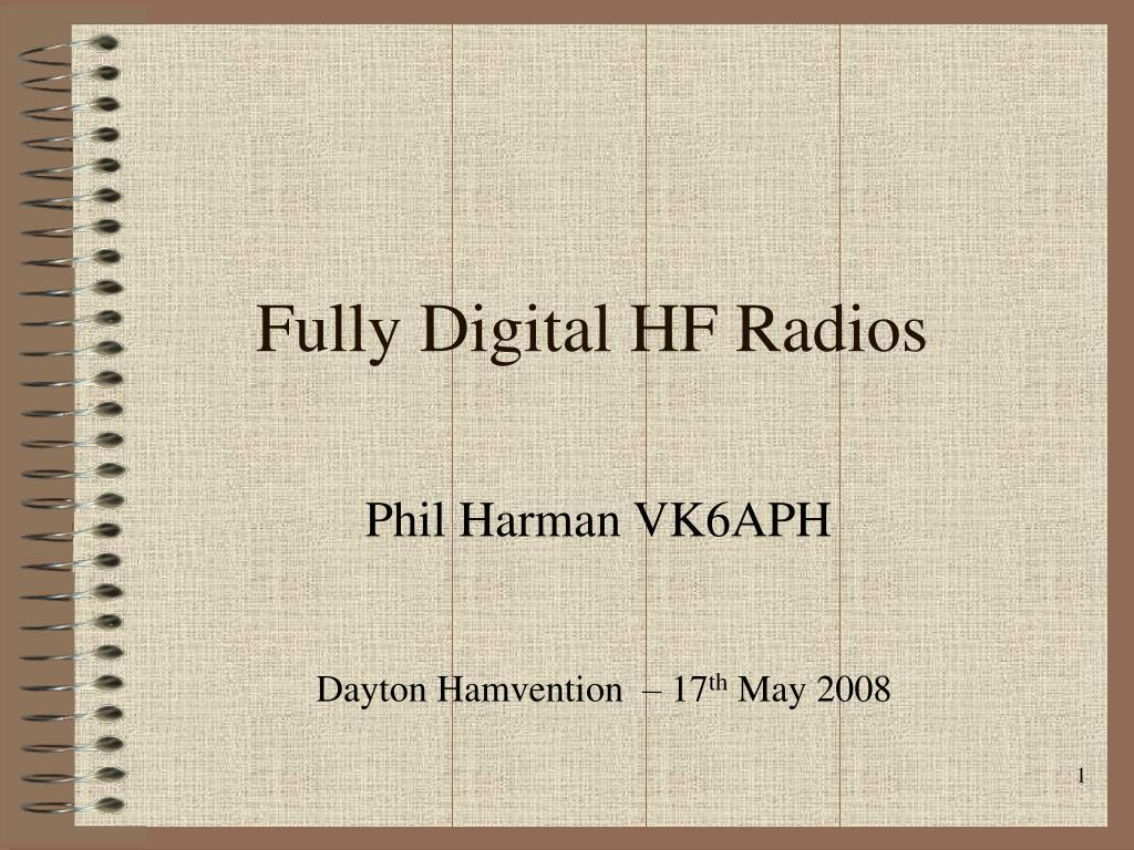 Fully Digital HF Radios