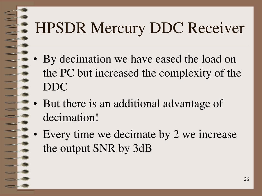 HPSDR Mercury DDC Receiver