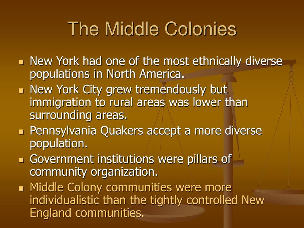 The Middle Colonies