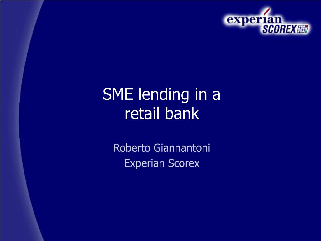SME lending in a