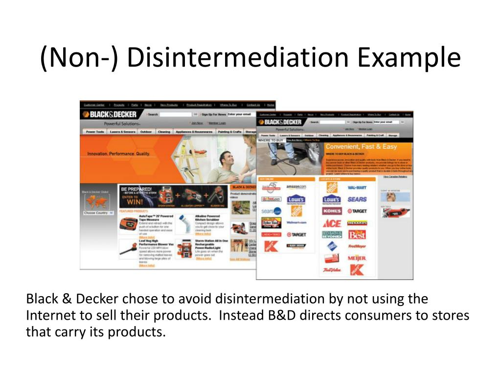 (Non-) Disintermediation Example