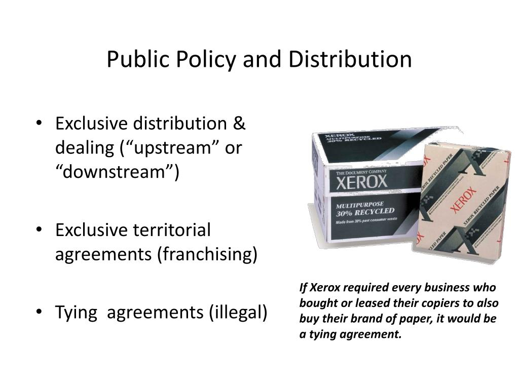 Public Policy and Distribution