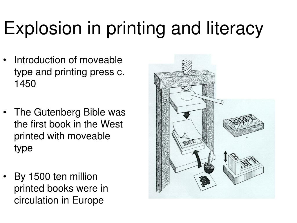 Explosion in printing and literacy
