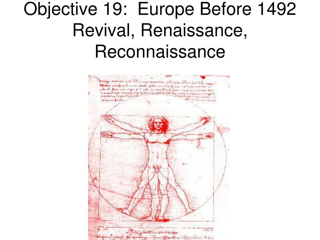 Objective 19:  Europe Before 1492