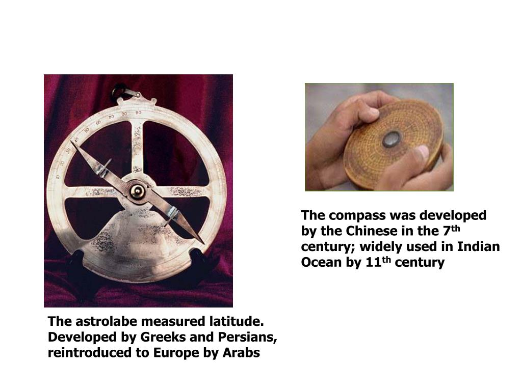 The compass was developed