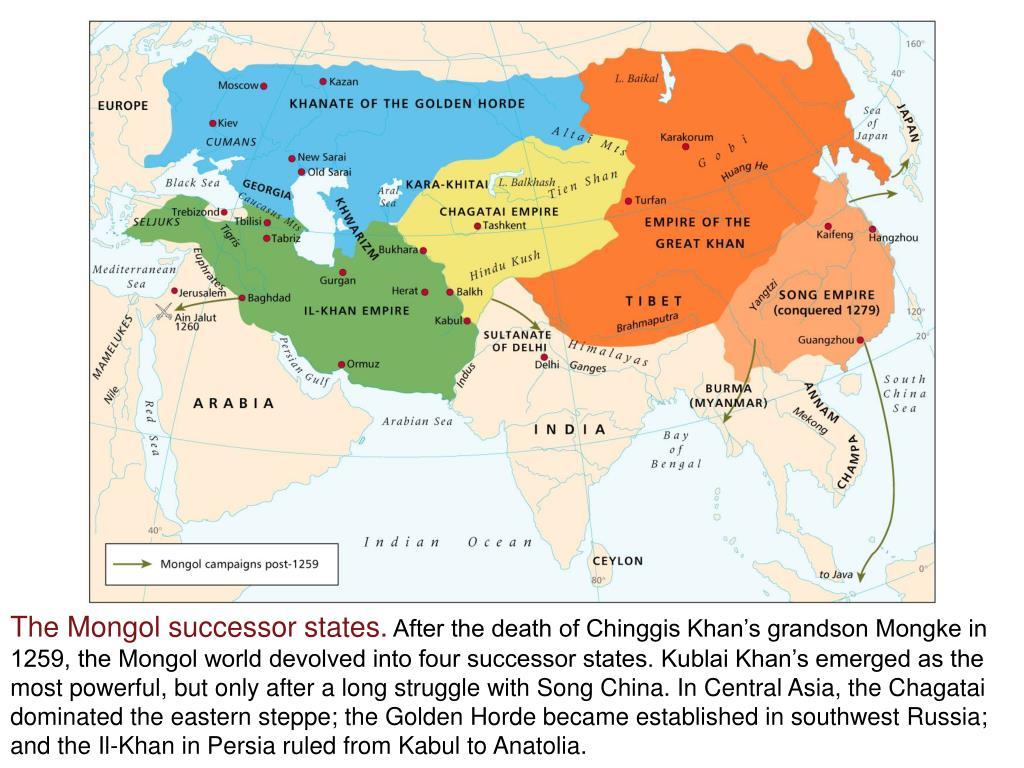 The Mongol successor states.