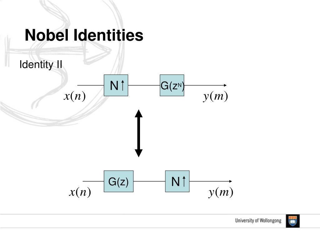 Nobel Identities