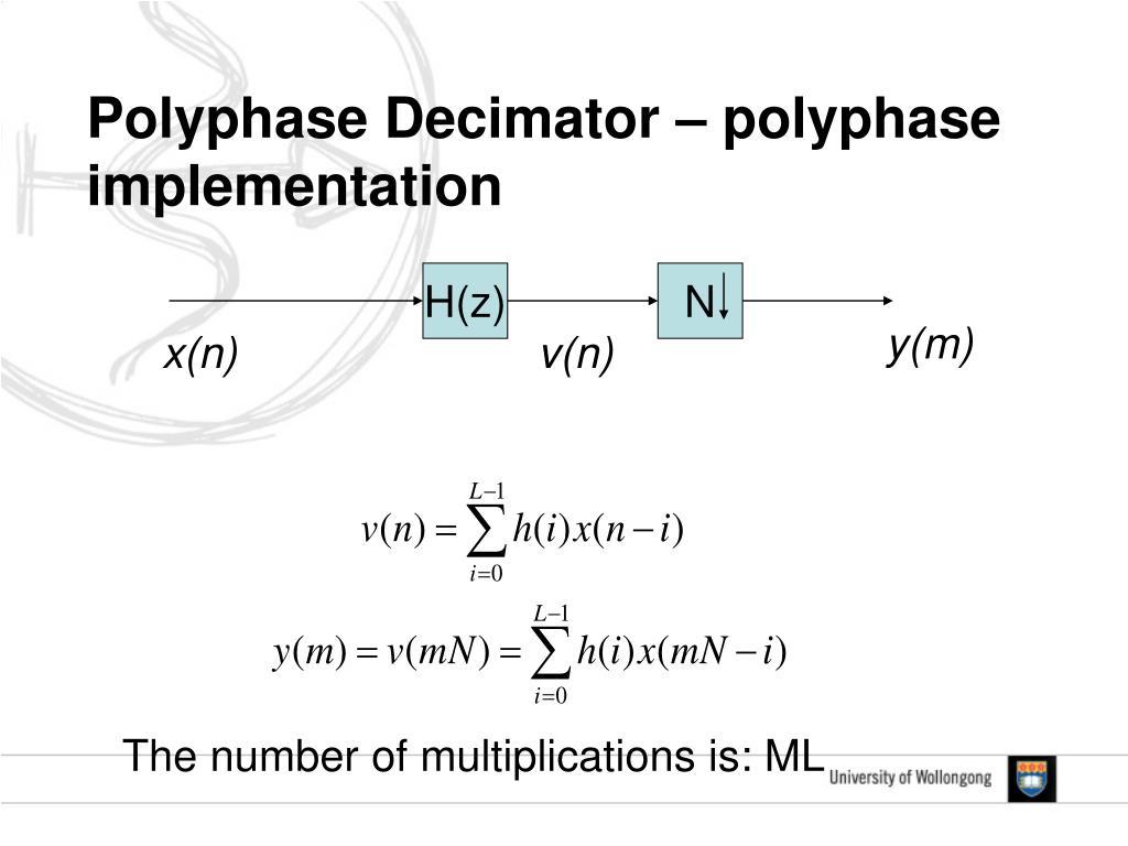 Polyphase Decimator – polyphase implementation