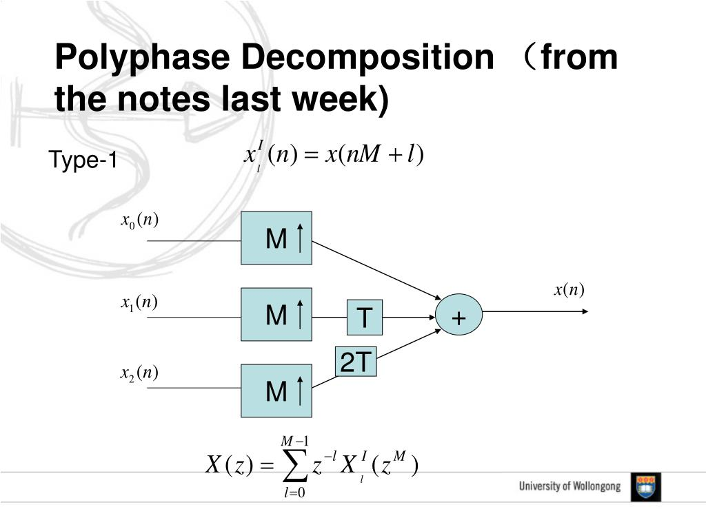 Polyphase Decomposition (from the notes last week)