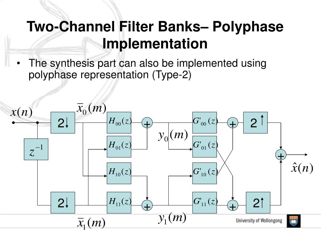 Two-Channel Filter Banks– Polyphase Implementation
