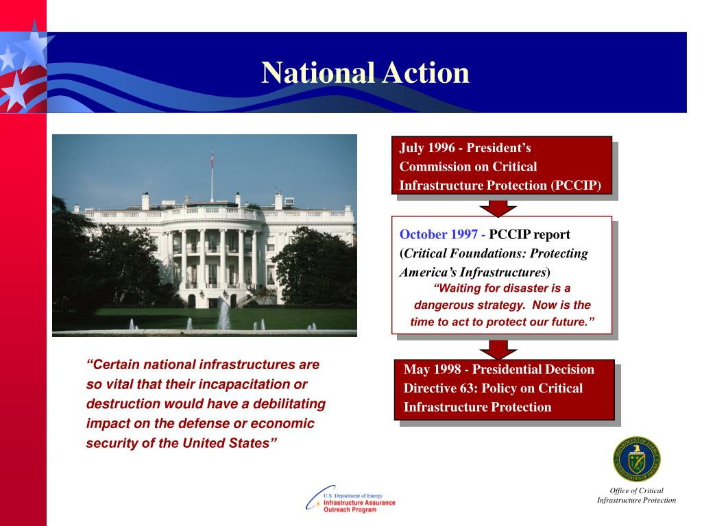 July 1996 - President's Commission on Critical Infrastructure Protection (PCCIP)