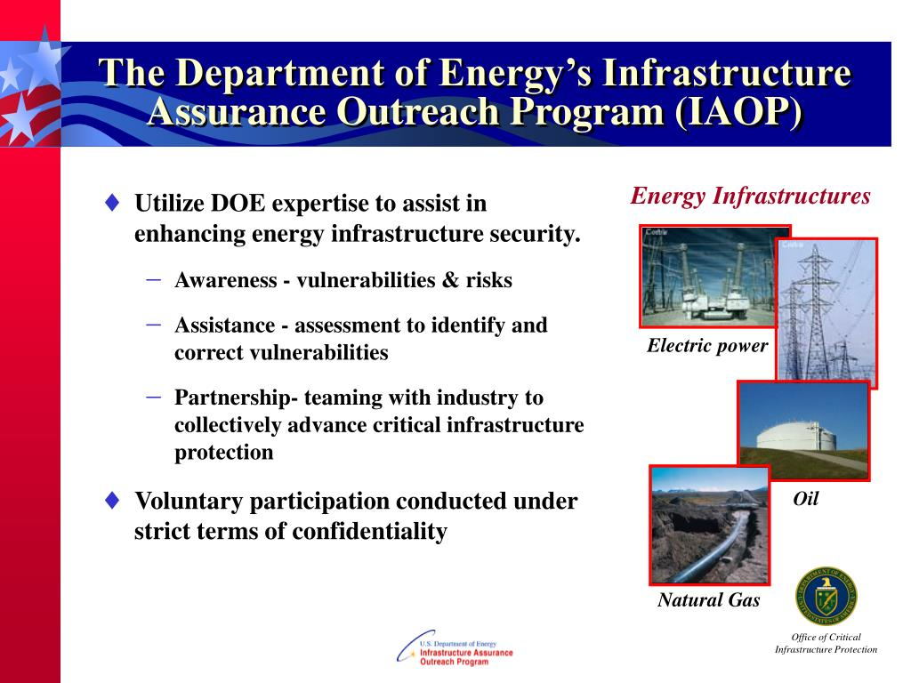 The Department of Energy's Infrastructure Assurance Outreach Program (IAOP)