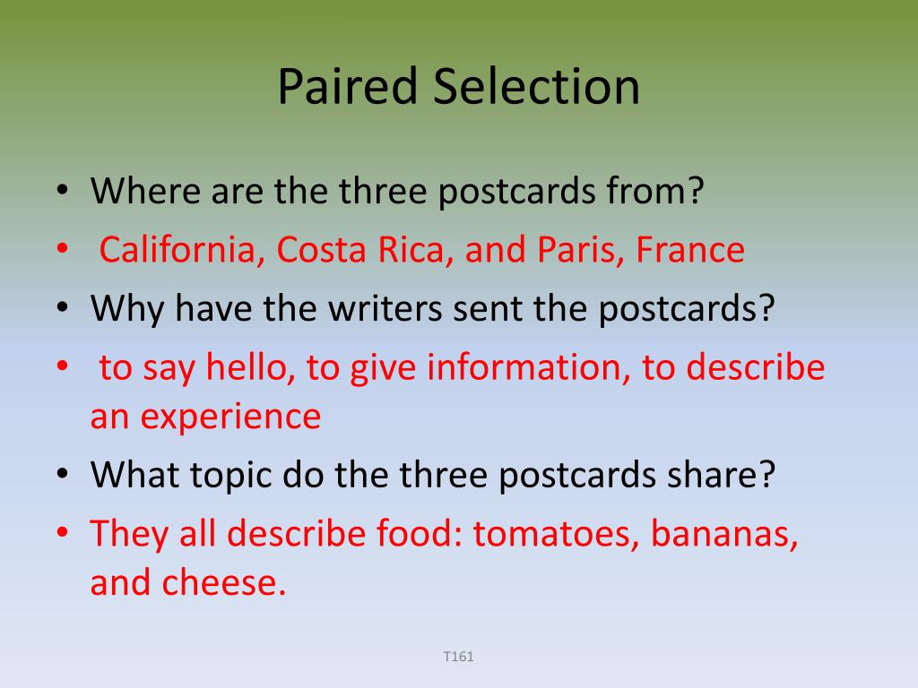 Paired Selection