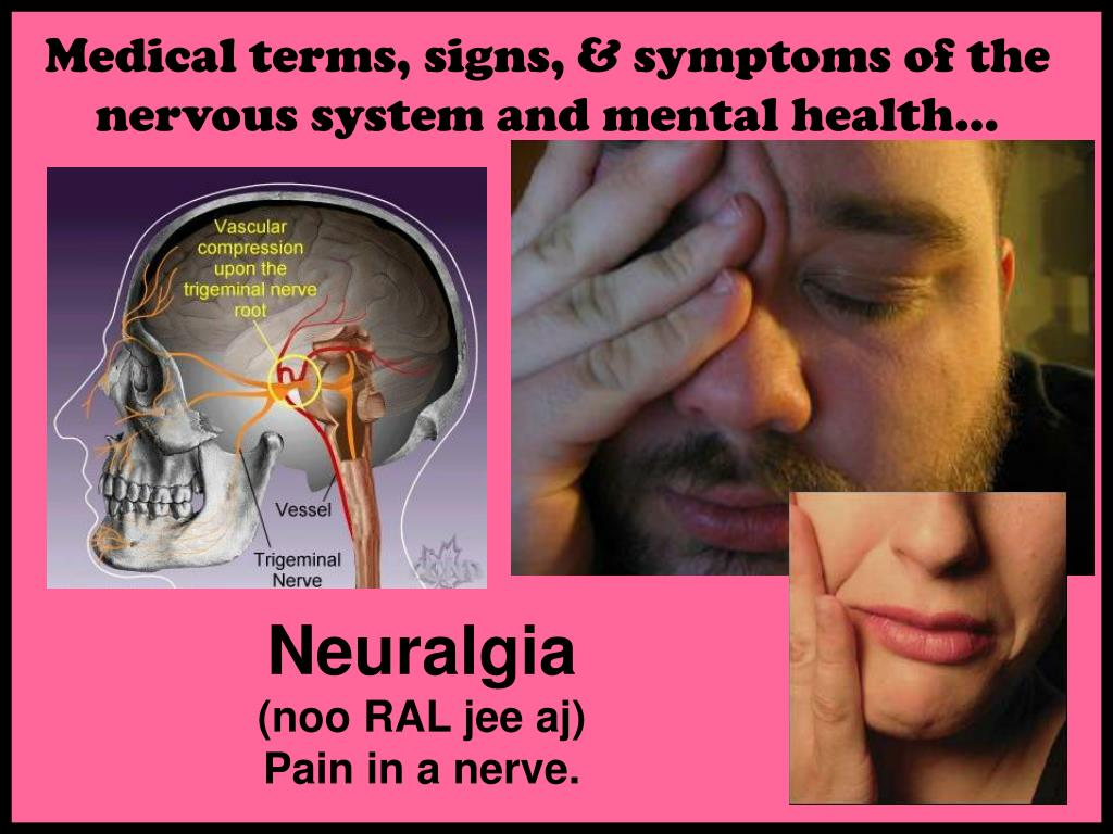 Medical terms, signs, & symptoms of the nervous system and mental health…
