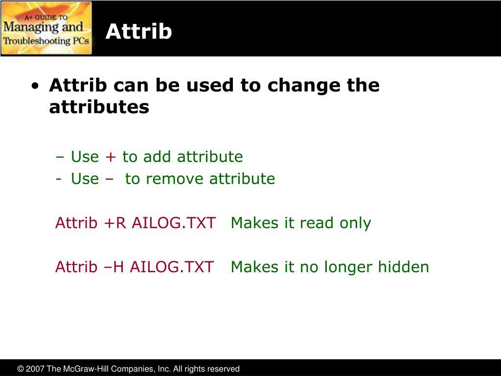 Attrib