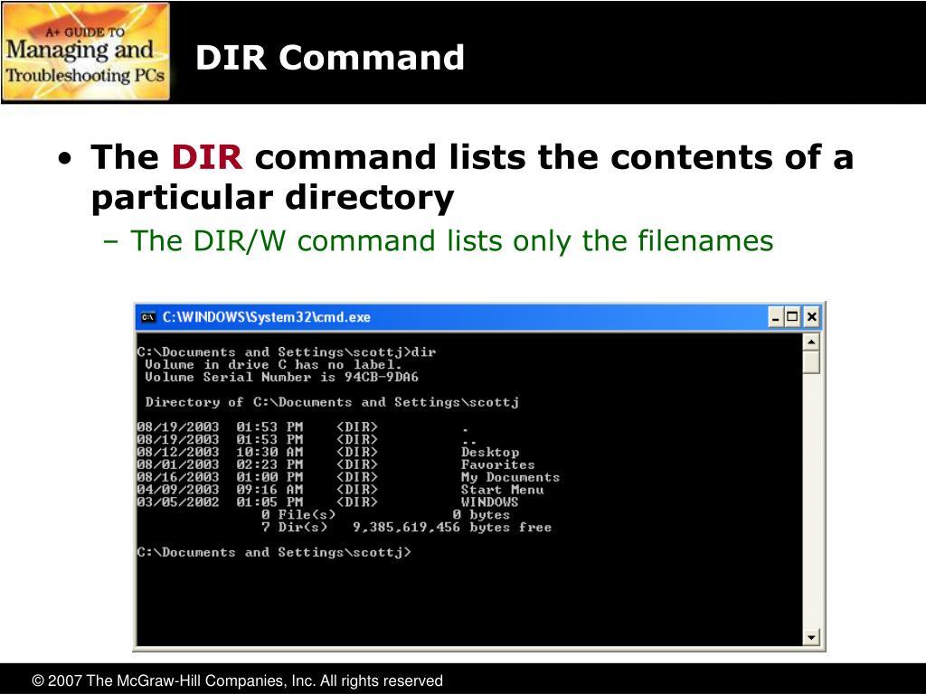 DIR Command