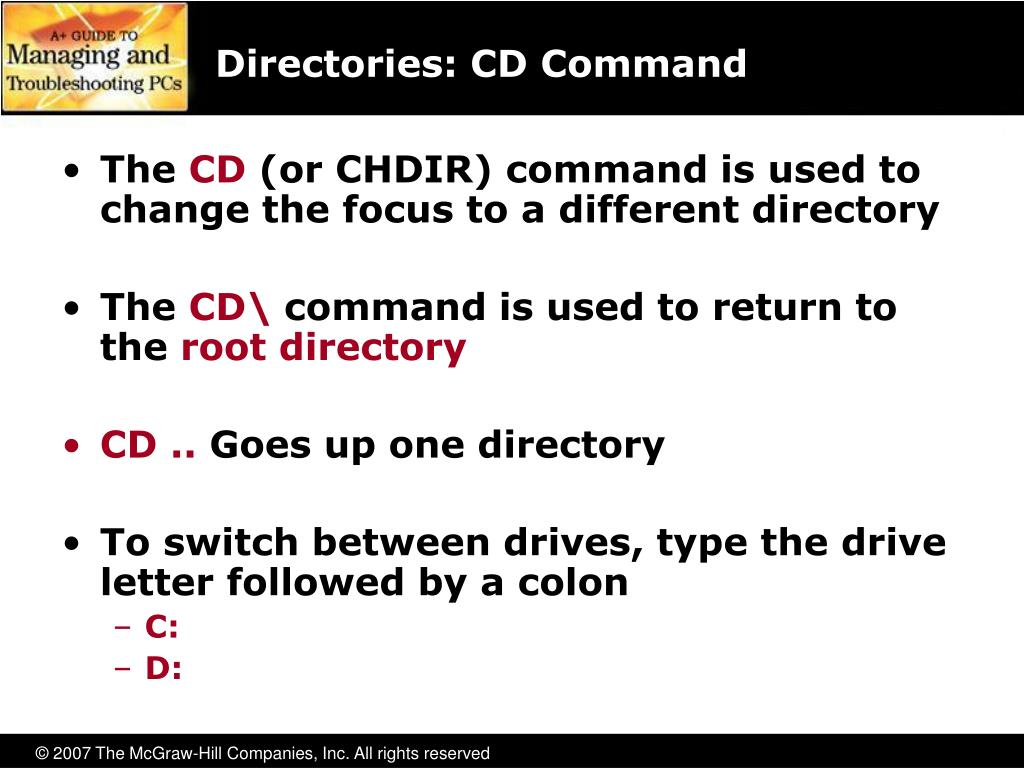 Directories: CD Command