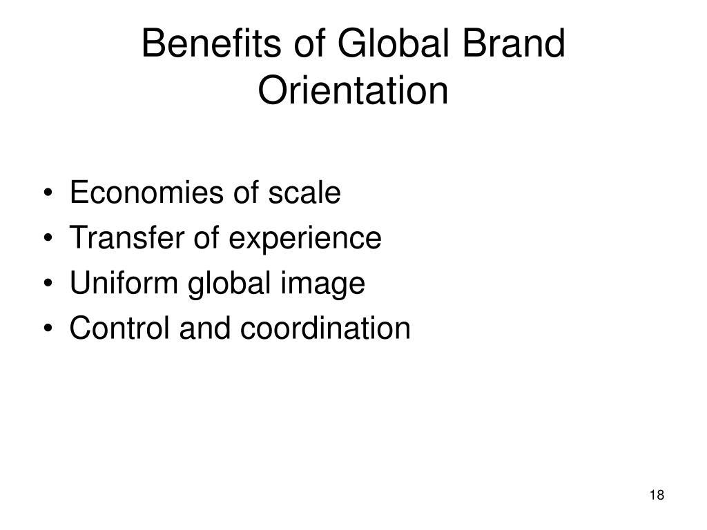 Benefits of Global Brand Orientation