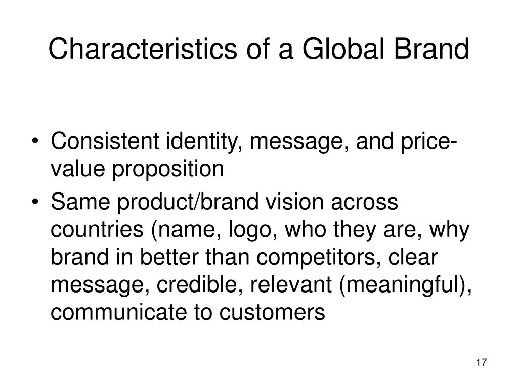 Characteristics of a Global Brand