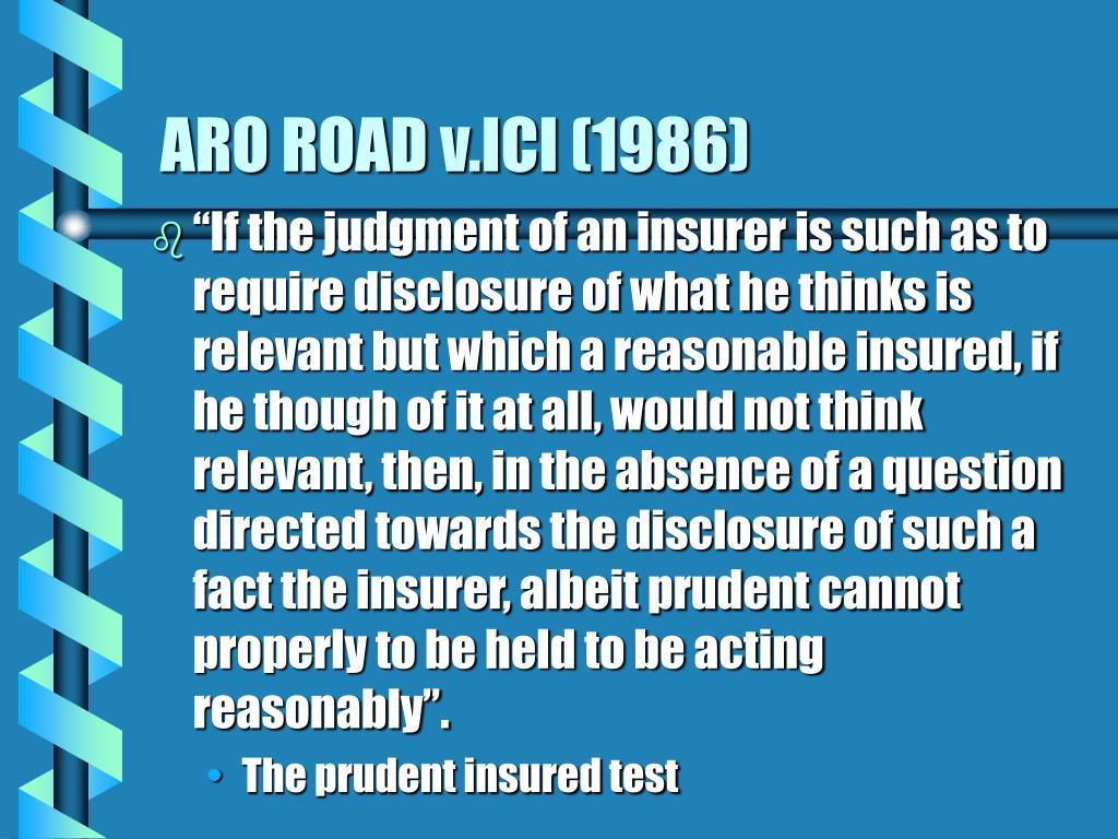 ARO ROAD v.ICI (1986)