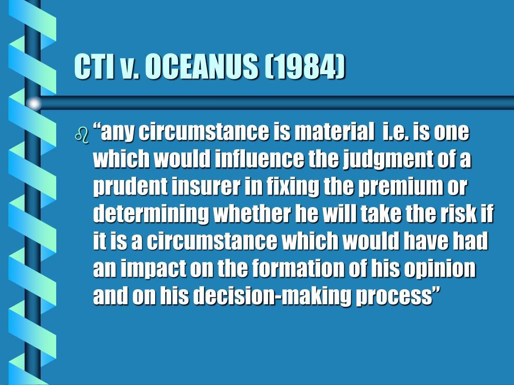 CTI v. OCEANUS (1984)