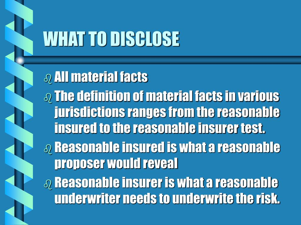 WHAT TO DISCLOSE