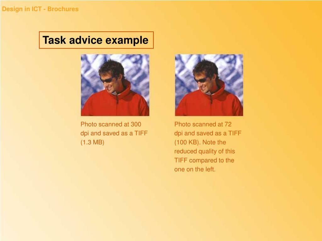 Design in ICT - Brochures