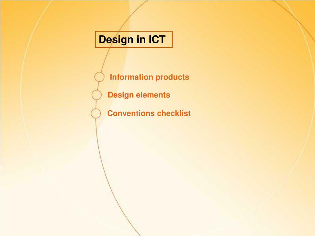 Design in ICT