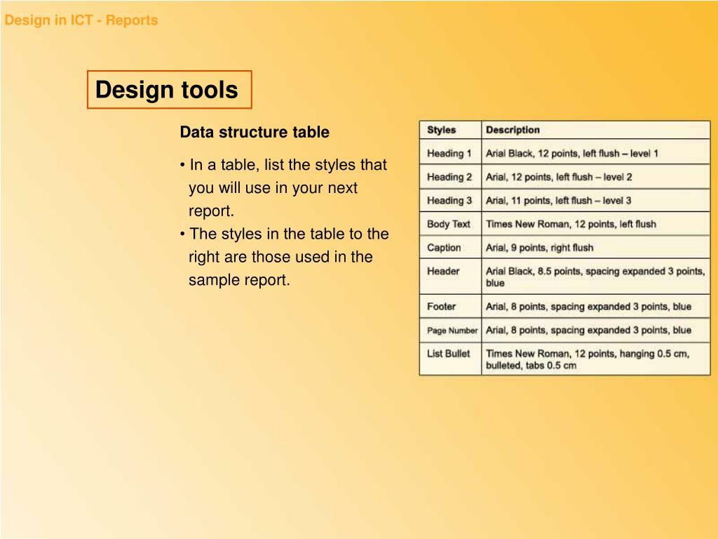 Design in ICT - Reports