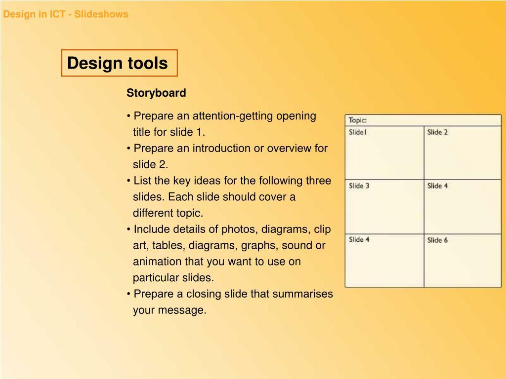 Design in ICT - Slideshows
