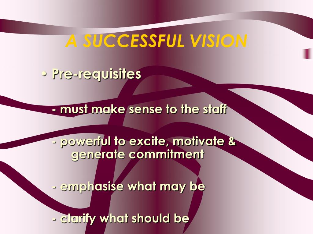 A SUCCESSFUL VISION