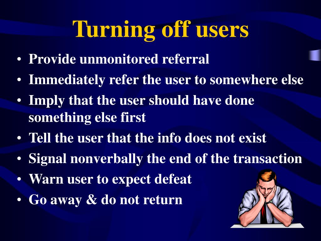 Turning off users
