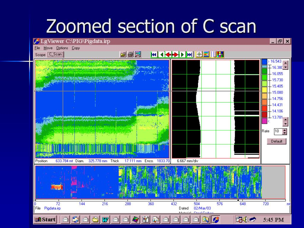 Zoomed section of C scan