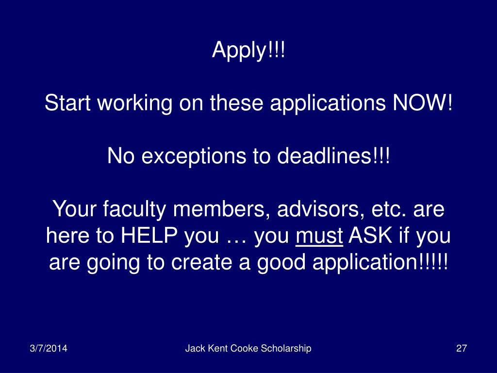 Apply!!!
