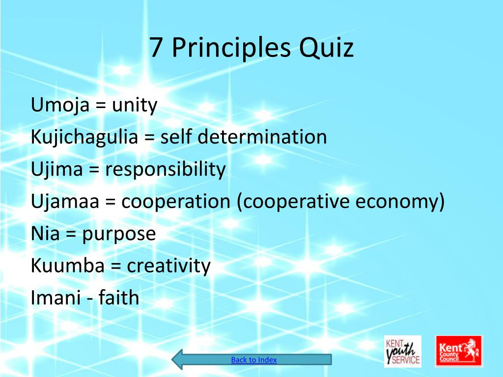 7 Principles Quiz