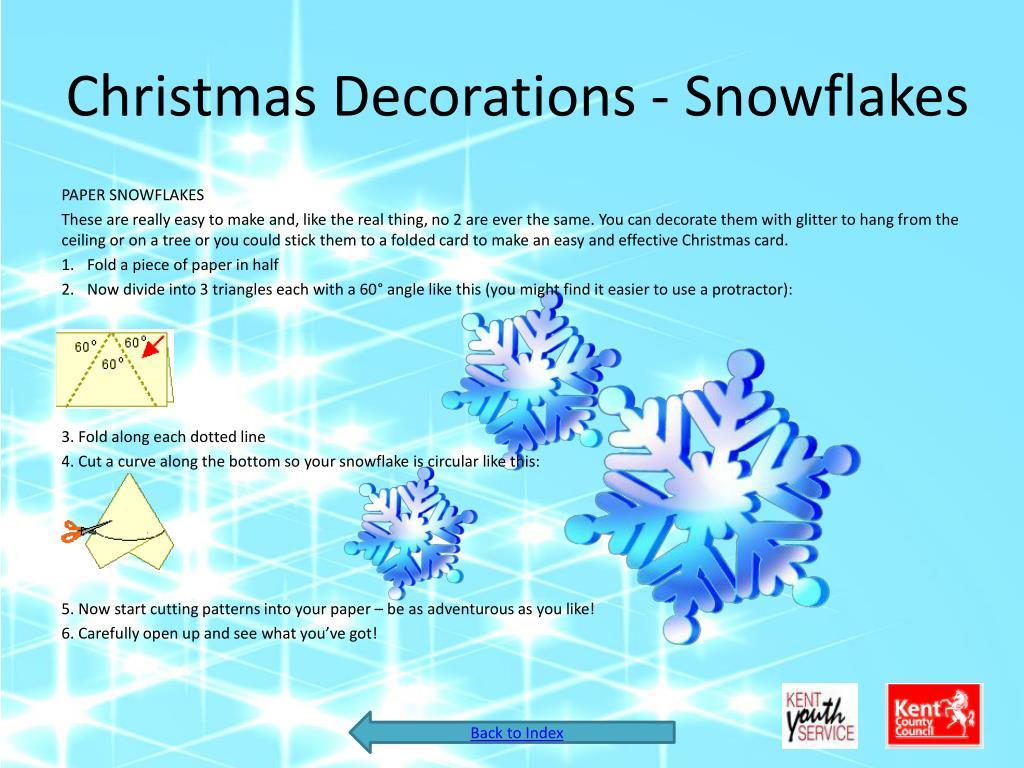 Christmas Decorations - Snowflakes