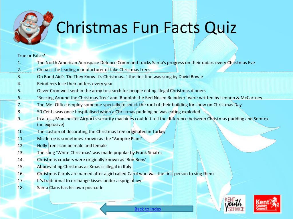 Christmas Fun Facts Quiz