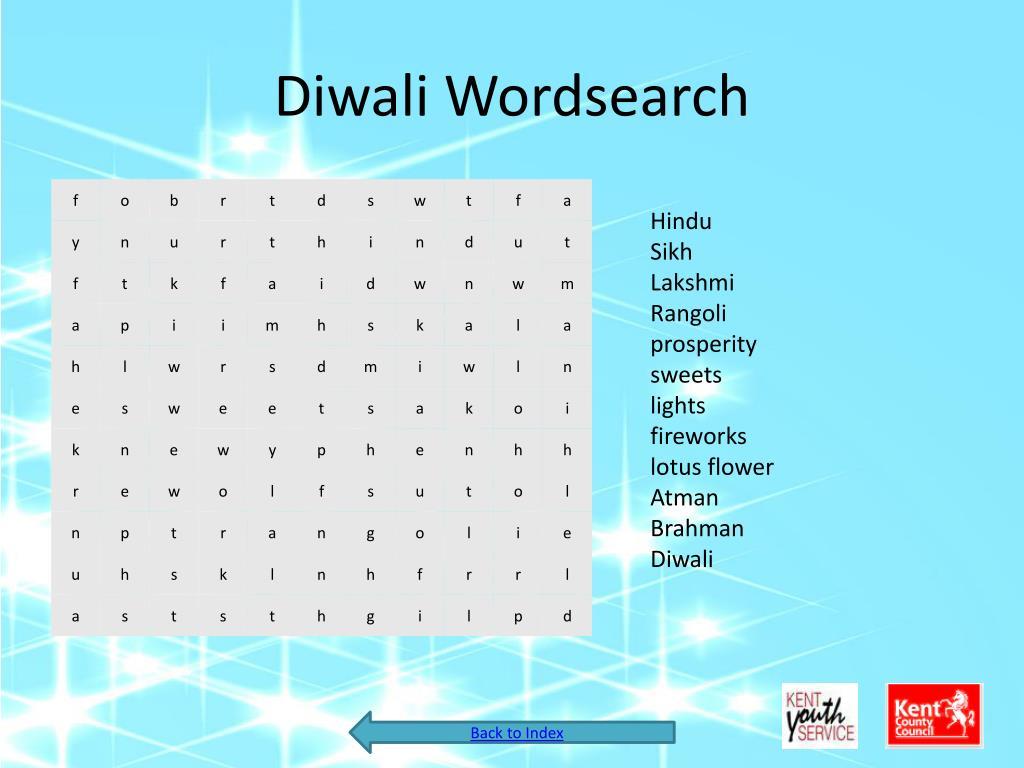 Diwali Wordsearch