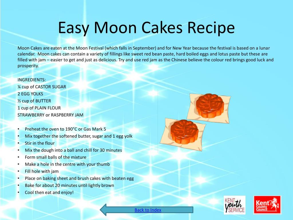 Easy Moon Cakes Recipe
