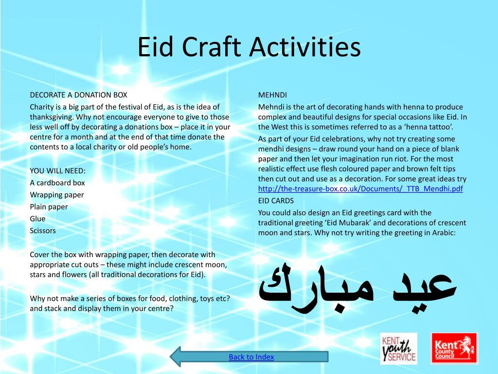 Eid Craft Activities