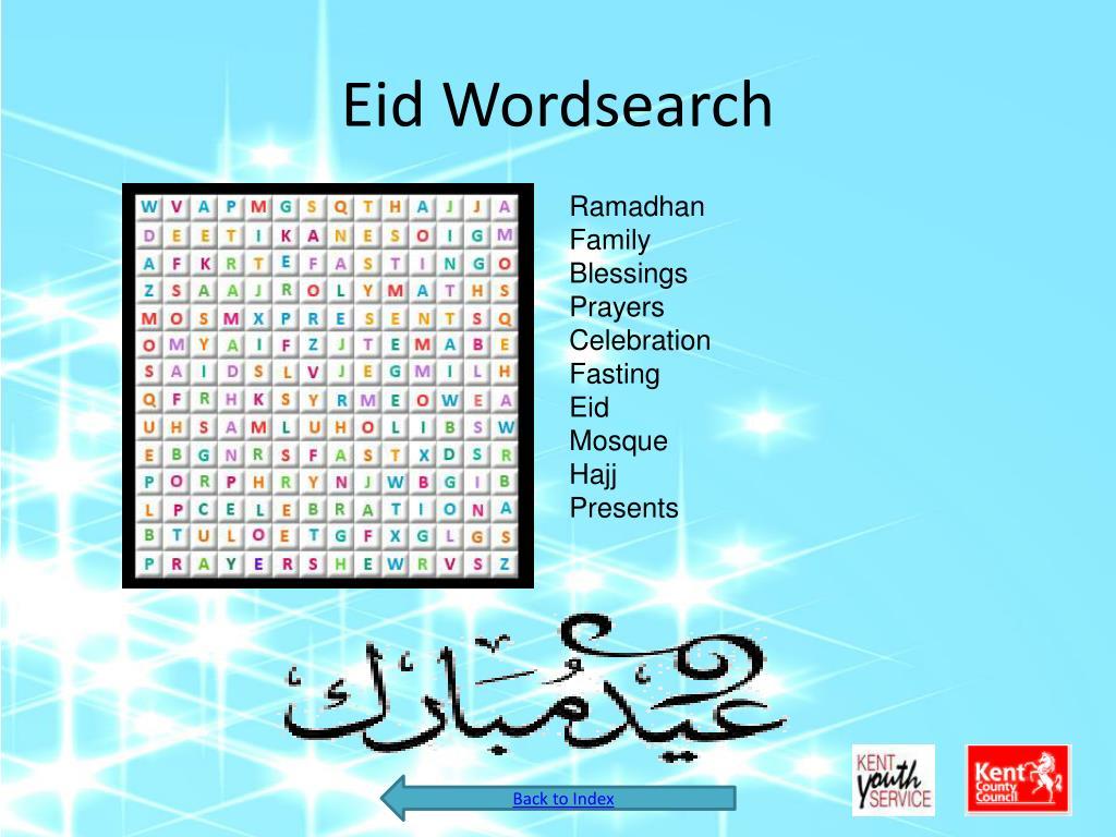 Eid Wordsearch